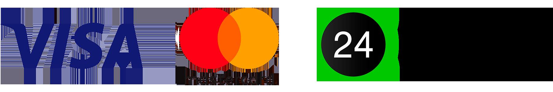 VISA, MasterCard, Privat24